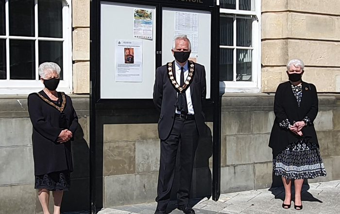 Mayor, Deputy Mayor and Cllr Drake